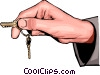 hand holding keys Vector Clipart picture