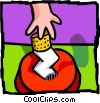 Vector Clipart graphic  of a putting a cigarette out
