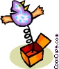 jack-in-the-box Vector Clipart illustration