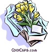 Vector Clipart graphic  of a Gift of flowers