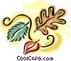 Vector Clip Art graphic  of a Fall leaves