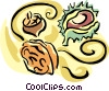 acorns Vector Clipart illustration