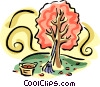 Tree in the fall Vector Clipart image