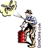 man spraying bugs/exterminator Vector Clip Art image