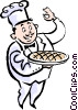 Vector Clip Art graphic  of a baker