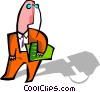 Vector Clip Art picture  of a man
