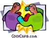 men boxing Vector Clipart image