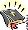 Vector Clipart graphic  of a holy bible