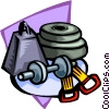 weight training Vector Clipart illustration