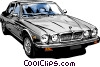 Vector Clip Art image  of a Luxury car