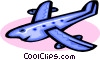 Vector Clip Art graphic  of a cartoon plane