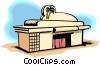 Vector Clip Art graphic  of a restaurant
