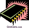 Vector Clipart image  of a microchip