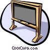 Vector Clipart graphic  of a chalk board