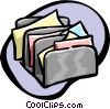 Vector Clip Art graphic  of a letter sorter