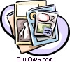 Vector Clip Art graphic  of a periodicals