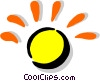 Vector Clip Art image  of a coin