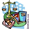 Vector Clip Art picture  of a justice