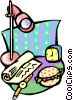 after hours snack Vector Clip Art graphic