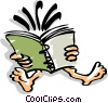 Vector Clipart illustration  of a reading book