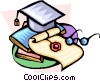 Vector Clip Art graphic  of a graduation