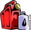 Vector Clipart image  of a fuel containers