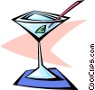 Vector Clip Art picture  of a martini cocktail