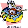 Vector Clipart picture  of a scuba diving mask
