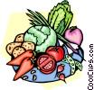 Vector Clipart image  of a Vegetable platter