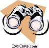 Vector Clipart image  of a binoculars