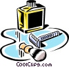 Vector Clip Art picture  of a shaving equipment