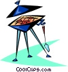 Vector Clipart graphic  of a grill or barbecue