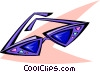 Vector Clipart image  of a 50's style sunglasses