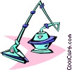 50's style vacuum Vector Clipart picture