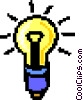 Vector Clipart graphic  of a light bulb - symbol