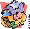 home finances Vector Clipart image