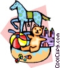 baby's toys Vector Clipart graphic