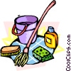 Vector Clip Art graphic  of a cleaning