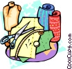 Dressmaking supplies Vector Clipart illustration