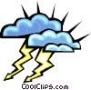 Vector Clipart graphic  of a lightning clouds