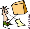 Vector Clipart graphic  of a receiving parcel