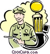 Vector Clipart graphic  of a Gas station attendant