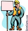 Vector Clip Art picture  of a construction sign