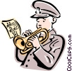 Vector Clipart graphic  of a salvation army trumpet player