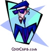 Vector Clipart graphic  of a cool