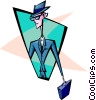 Vector Clip Art image  of a businessman - abstract