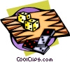 Vector Clipart graphic  of a backgammon