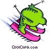 skier Vector Clipart picture