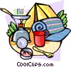 Camping equipment Vector Clipart graphic