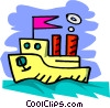 cartoon boat Vector Clipart illustration
